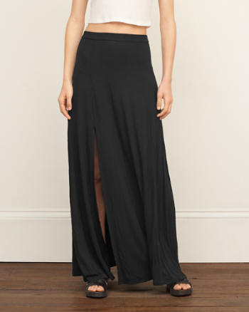 Womens Knit Maxi Skirt