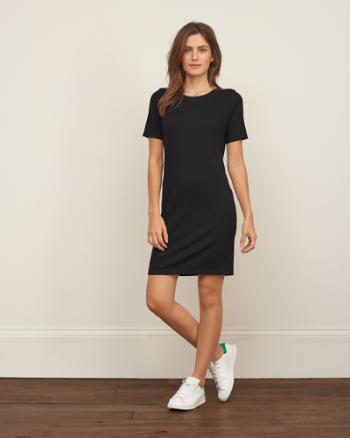 Womens Slim Rib Dress