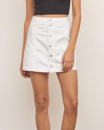 Womens Denim A-Line Skirt