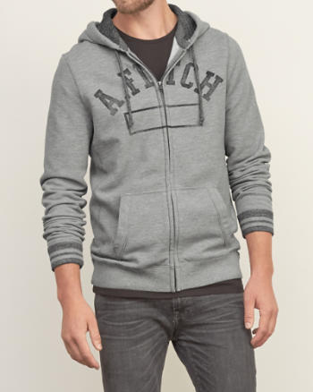 Mens Distressed Logo Graphic Hoodie