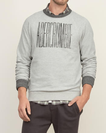Mens Distressed Logo Graphic Sweatshirt