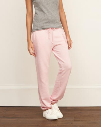 Womens A&F Easy Banded Sweatpants