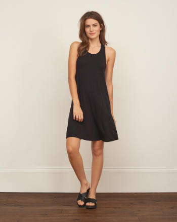 Womens Easy Twist Back Dress