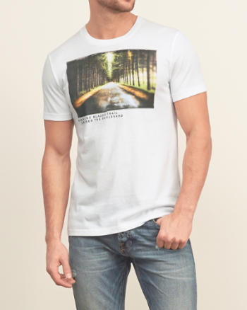 Mens Retro Trail Graphic Tee