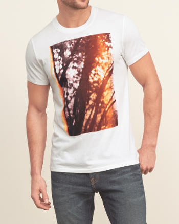 Mens Retro Trees Graphic Tee