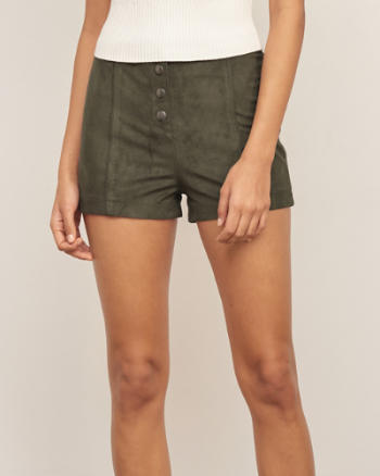 Womens Faux Suede Short
