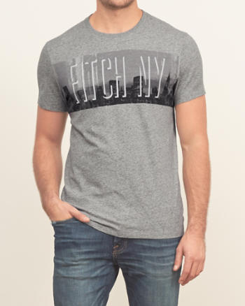 Mens NY Skyline Graphic Tee