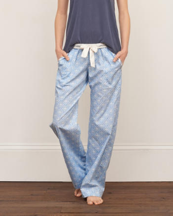 Womens Patterned Woven Sleep Pants