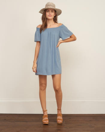 Womens Off the Shoulder Swing Dress