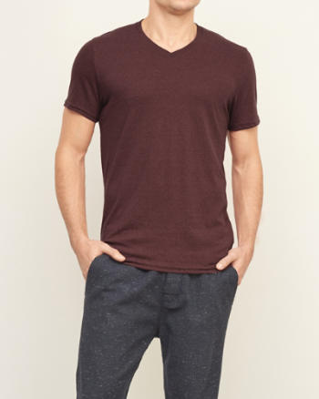 Mens Washed Out V-Neck Tee