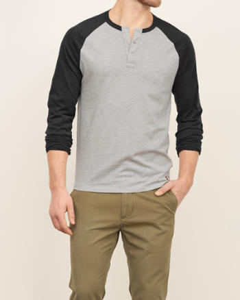 Mens Baseball Henley