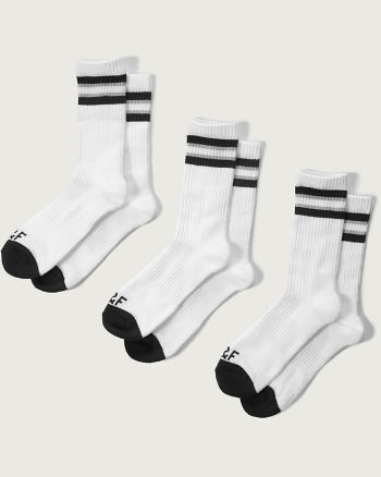 Mens A&F Ribbed Athletic Socks