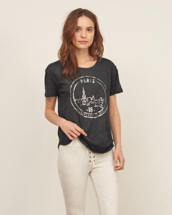 Womens Shine Paris Graphic Tee