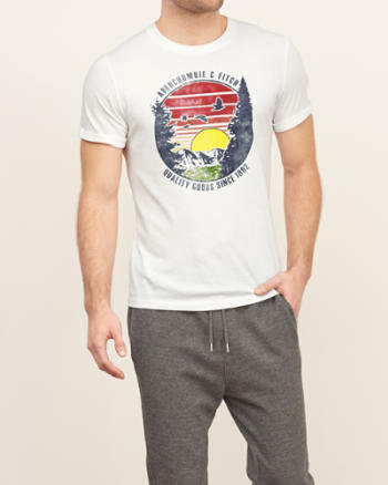 Mens Vintage Logo Graphic Tee