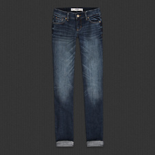 Womens A&F Straight Jeans