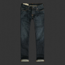 Mens A&F Classic Straight Jeans