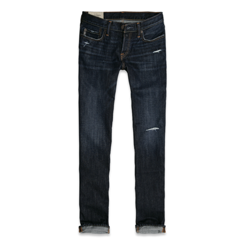 Summer A&F Slim Straight Jeans