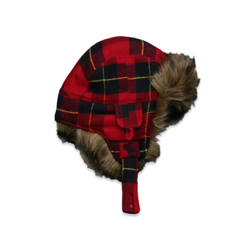 Mens Plaid Trapper Hat