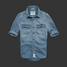 Mens Douglass Mountain Denim Shirt