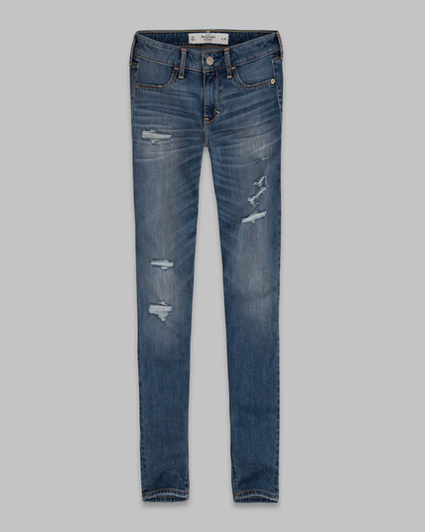 A&F Mid Rise Super Skinny Ankle Jeans A&F Mid Rise Super Skinny Ankle Jeans