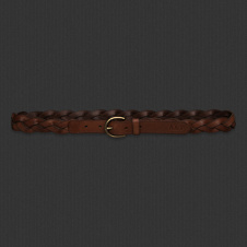 Womens Braided Leather Belt