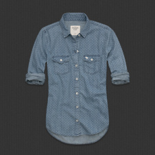 Womens Tristen Dot Denim Shirt