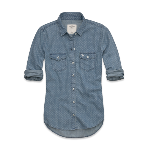 Tristen Dot Denim Shirt
