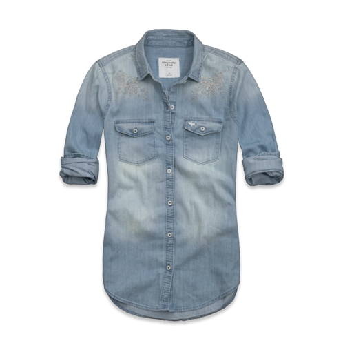 Womens Gemma Shine Denim Shirt