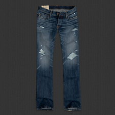 Mens A&F Slim Boot Jeans