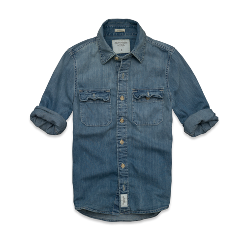 Mens Gothics Mountain Denim Shirt