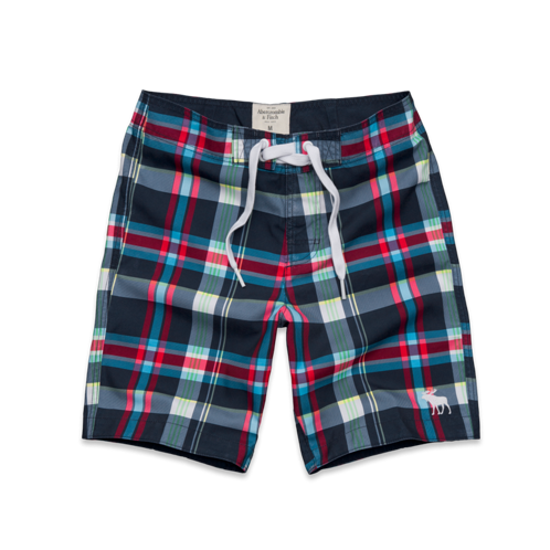 Mens Railroad Notch Swim Shorts