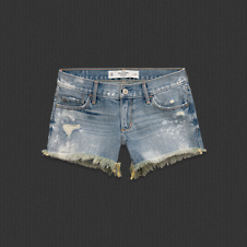 Womens A&F Midi Length Shorts