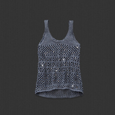 Womens Audrey Embellished Sweater Tank