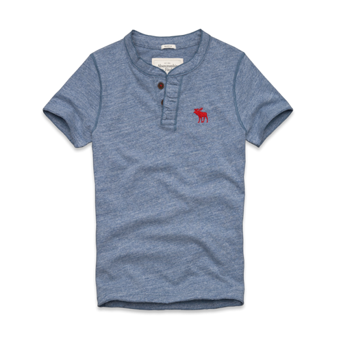 Mens Round Mountain Henley