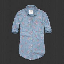Womens Benni Floral Chambray Shirt