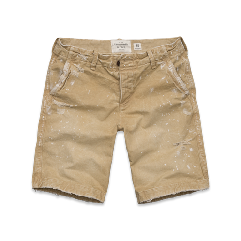 Shorts & Skin A&F Destroyed Classic Fit Shorts