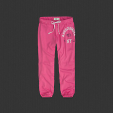 Womens A&F Banded Cropped Sweatpants