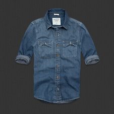 Mens Noonmark Stripe Denim Shirt