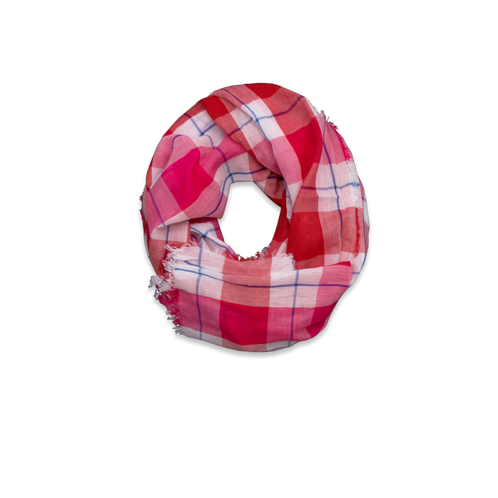 Womens Colorful Plaid Scarf