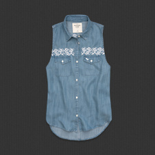 Womens Keegan Denim Shirt
