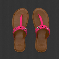 Womens Light Leather Flip Flop