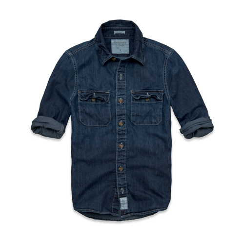 Mens Railroad Notch Denim Shirt
