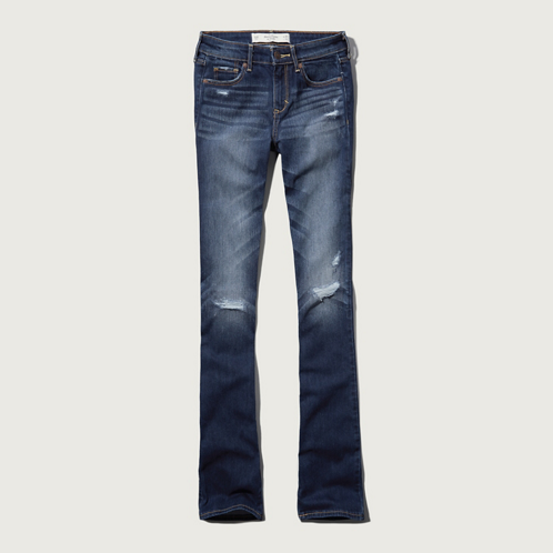 Bottoms A&F Mid Rise Boot Jeans