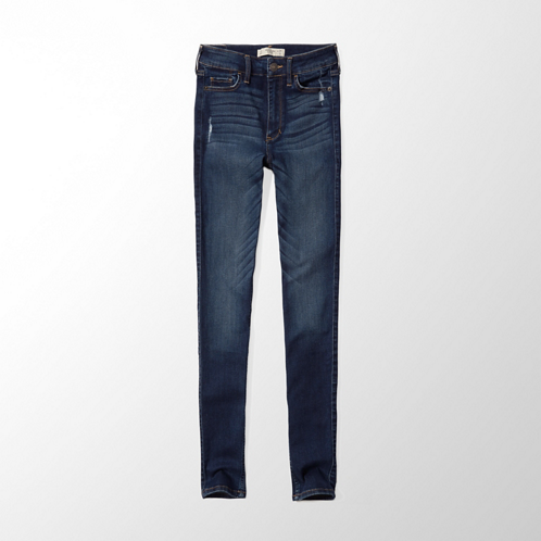Bottoms A&F Alyssa Super Skinny High Rise Jeans