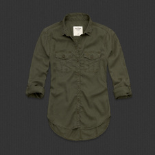 Womens Breana Twill Shirt