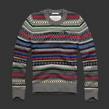 Mens Lake Placid Wool Sweater