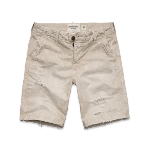 Mens A&F Destroyed Classic Fit Shorts