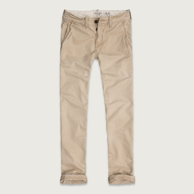 Mens A&F Slim Straight Chinos