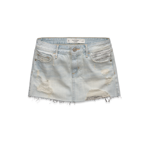 Womens Brittany Denim Skirt