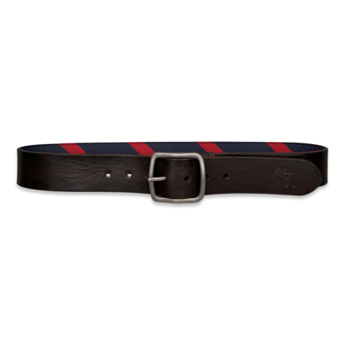 Mens Reversible Preppy Leather Belt